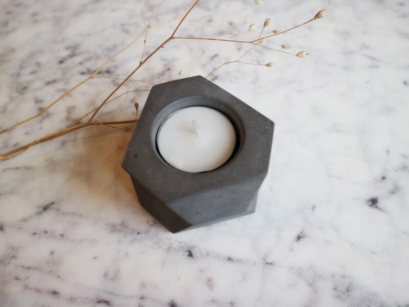 Atelier Pierre theelicht natural dark grey
