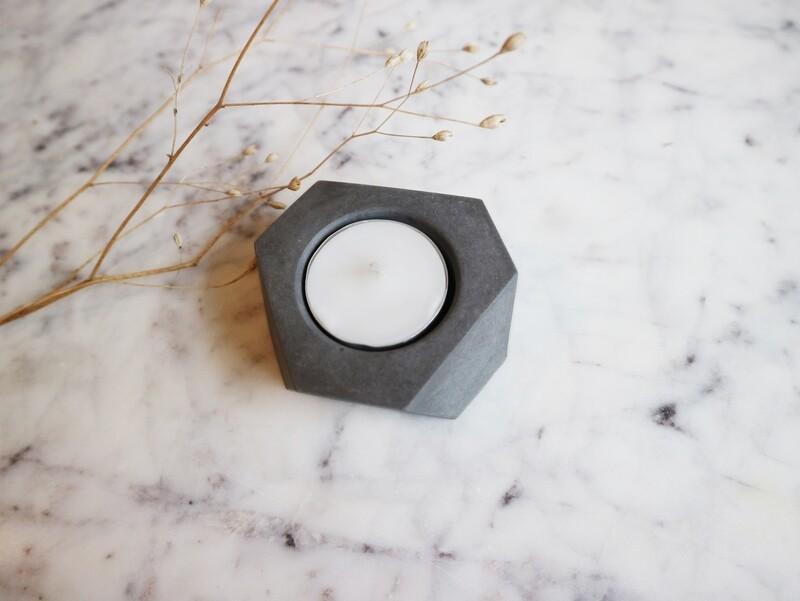 Atelier Pierre theelicht mini natural dark grey