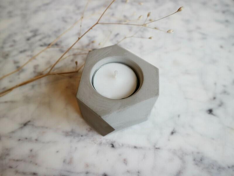 Atelier Pierre theelicht natural light grey