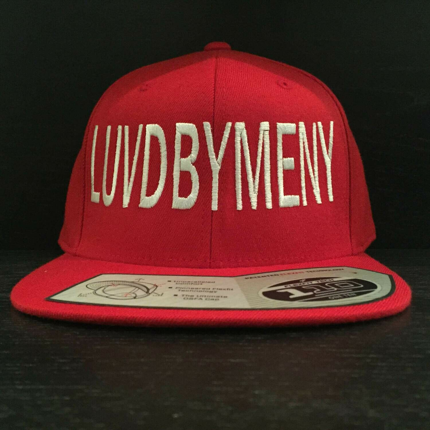 White on Red Snap-back
