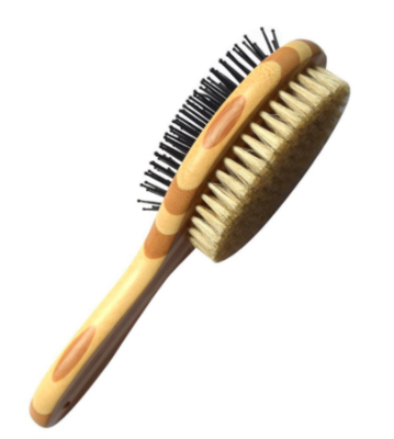 Double Sided Pin & Bristle Bamboo Pet Hair Brushes