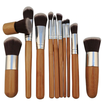 Bamboo Makeup Brushes Set With Cloth Bag
