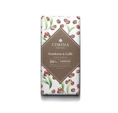 Tavoletta di cioccolato fondente e caffè Capriccio di Cimina Dolciaria