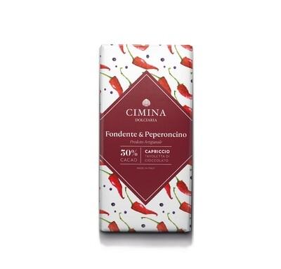 Tavoletta di cioccolato fondente e peperoncino Capriccio di Cimina Dolciaria