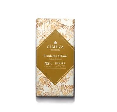 Tavoletta di cioccolato fondente e rum Capriccio di Cimina Dolciaria