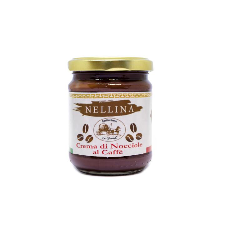 Crema di nocciole spalmabile al caffé Nellina