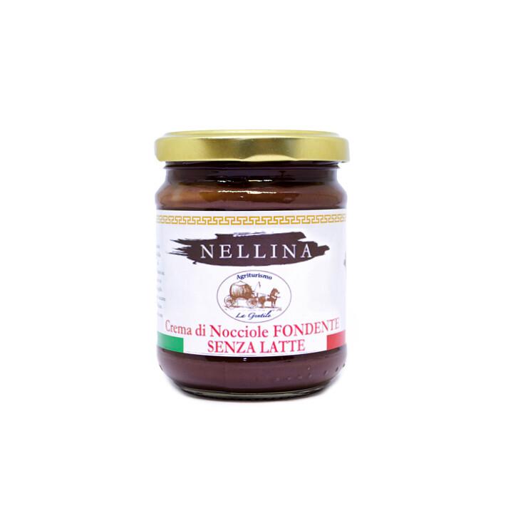 Crema di nocciole fondente spalmabile Nellina