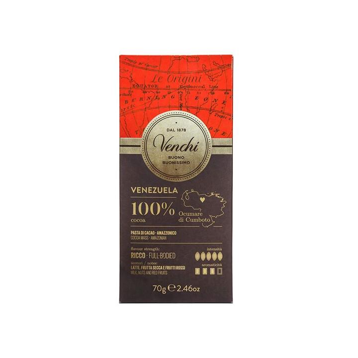 Tavoletta di cioccolato 100% cacao Venezuela di Venchi