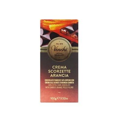 Tavoletta di cioccolato crema scorzette arancia di Venchi