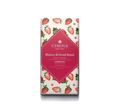 Tavoletta di cioccolato bianco e frutti rossi Capriccio di Cimina Dolciaria