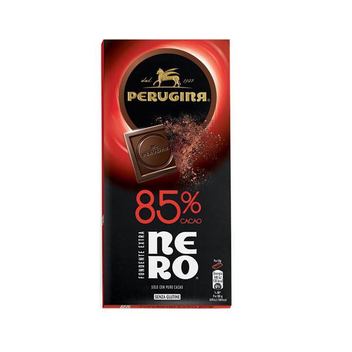 Tavoletta di cioccolato fondente extra Nero 85% di Perugina