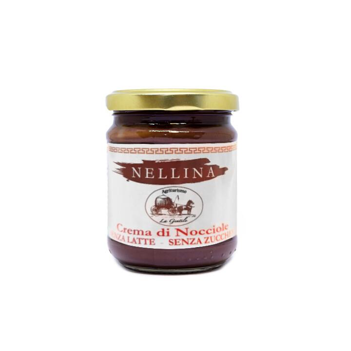 Crema di nocciole spalmabile senza zucchero Nellina