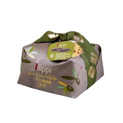 Panettone all'olio EVO con Cioccolato di Pasticceria Filippi