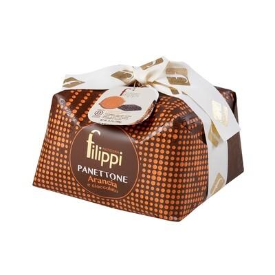 Panettone con arancia e cioccolato di Pasticceria Filippi