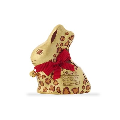 Gold Bunny Animal Print di Lindt Latte 200gr