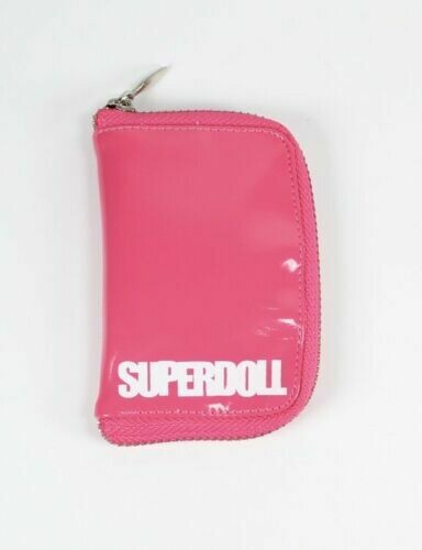 "Superdoll Collectables The Sybarites Mikado 16"" Faux Leather Hot Pink Bag"