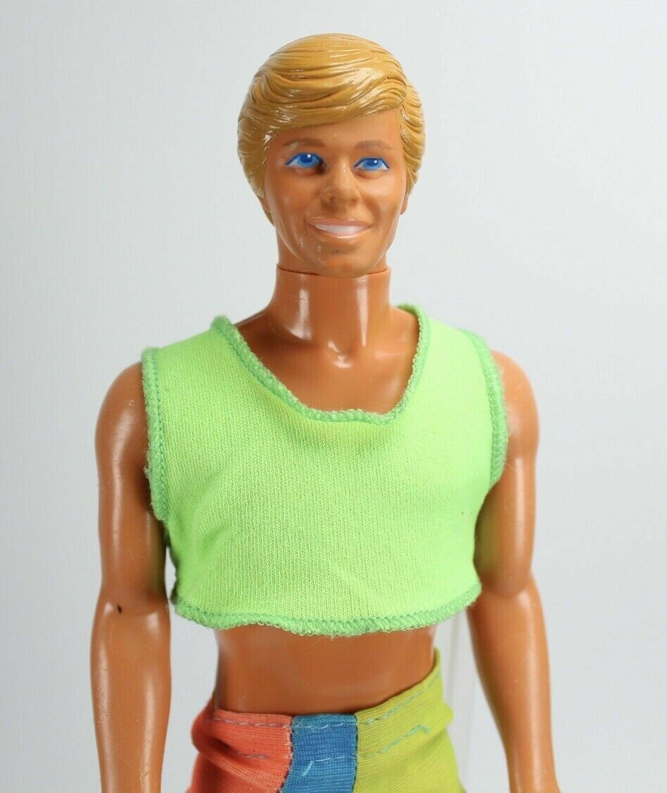 1989 Wet'n Wild Ken DE-BOXED Barbie Doll