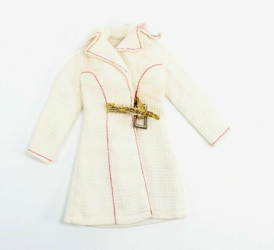 1972 White N' With It Barbie Doll Fashion Coat