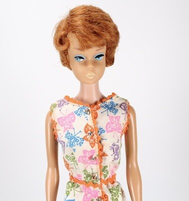Vintage 1960's Titian Side-Part Bubble-Cut Barbie Doll