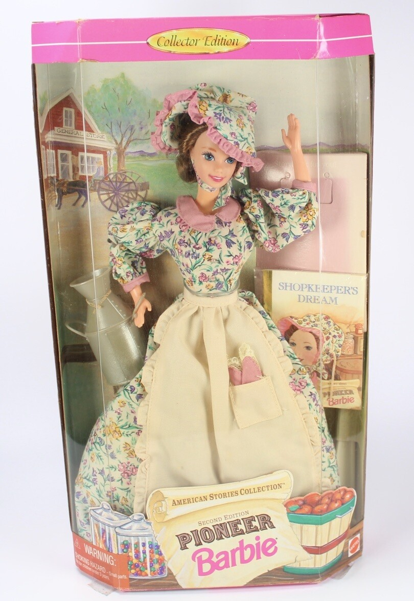 1995 2nd Edition Pioneer Barbie Doll from the American Stories Collection
