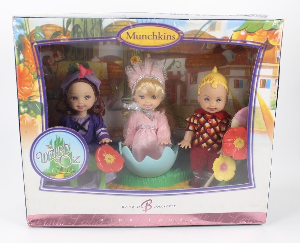 2006 Pink Label Wizard of Oz Munchkins Kelly & Tommy Barbie Dolls NRFB