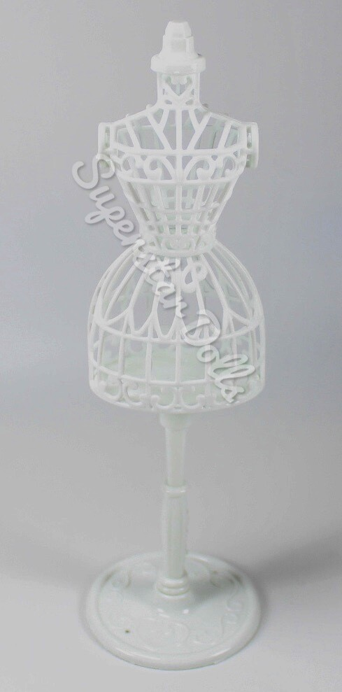 22cm White Doll Sized Mannequin/Stand for Skipper/Barbie Doll Fashions