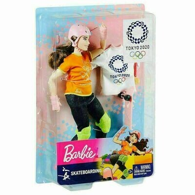 2020 Limited Edition Official Tokyo Olympic Games Skateboarding Barbie Doll