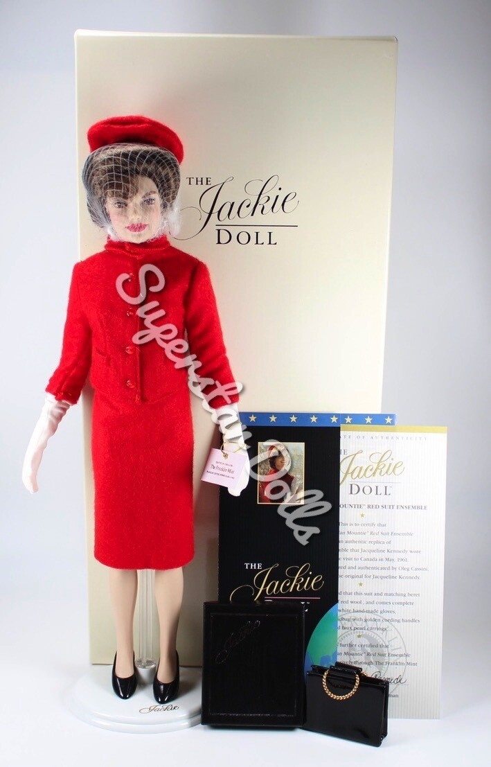 """The Jackie Doll """"Canadian Mountie"""" Red Suite 38cm Portrait Doll by The Franklin Mint"""