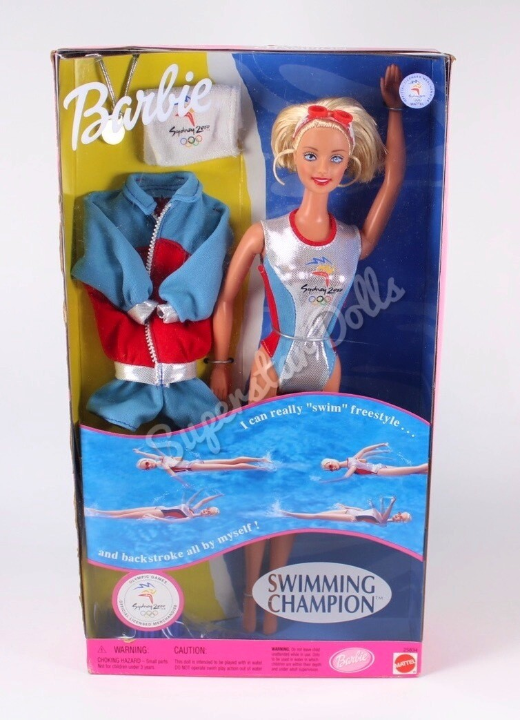 2000 Sydney Olympics Swimming Champion Barbie Doll NRFB