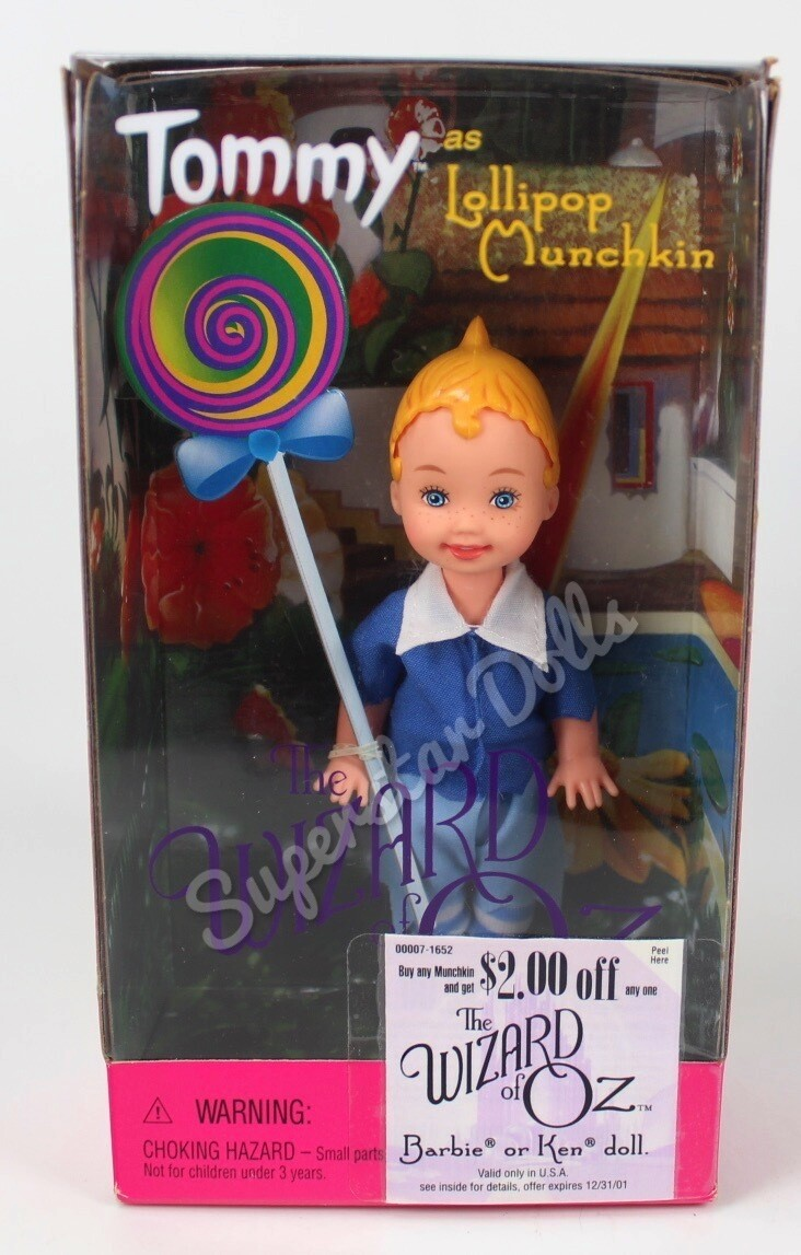 1999 Tommy as lollipop Munchkin from the Wizard or Oz Collector Barbie Doll