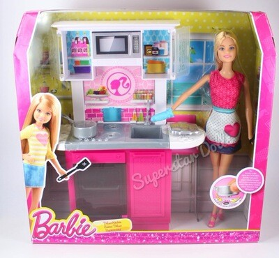 2014 Deluxe Kitchen Barbie Doll Set