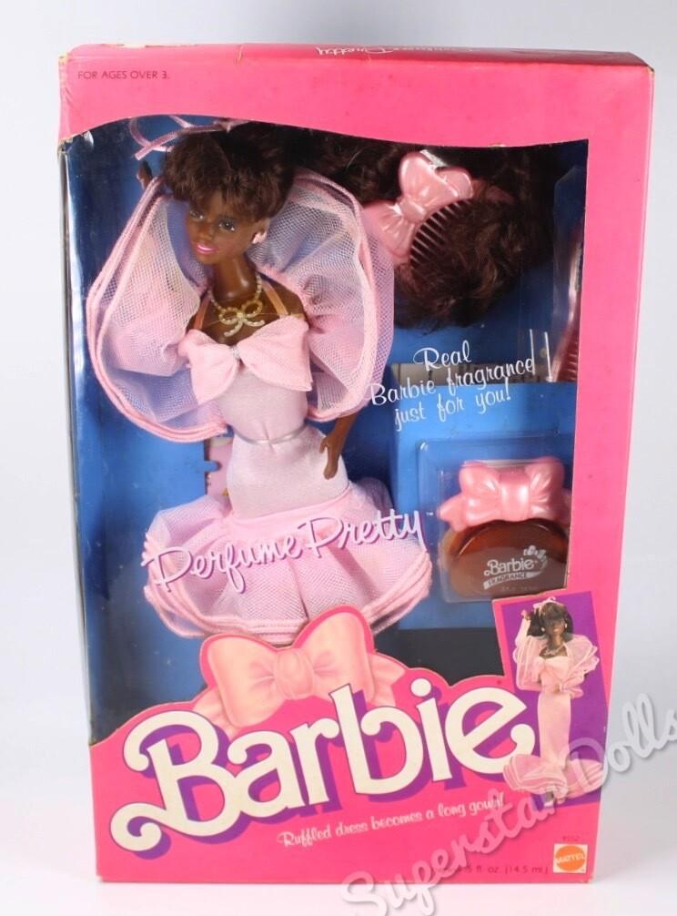 1987 Perfume Pretty African American (AA) Barbie Doll NRFB