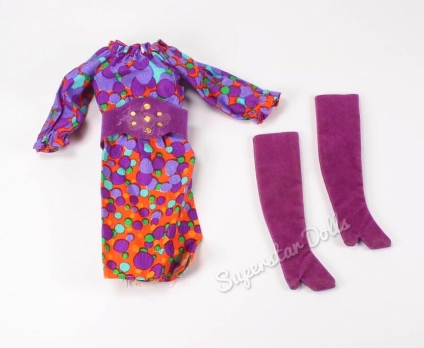 1971/2 Bubbles 'n Boots Barbie Doll Fashion #3421