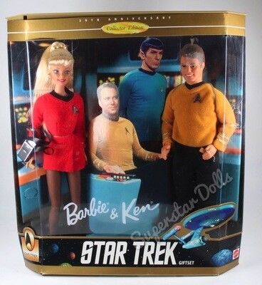1996 Star Trek Barbie & Ken Doll Gift Set