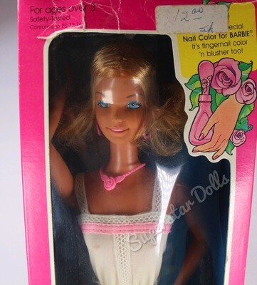 """1978 Supersize 17"""" Barbie Doll with Super Hair"""