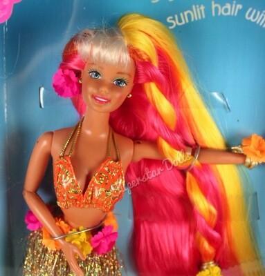 1996 Hula Hair Barbie doll
