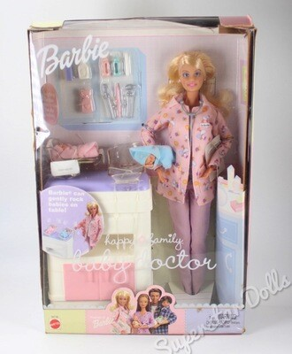 2003 Happy Family Baby & Doctor Barbie Doll