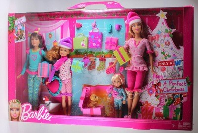 2012 Big W Exclusive: A Perfect Christmas Barbie, Skipper & Stacie Set