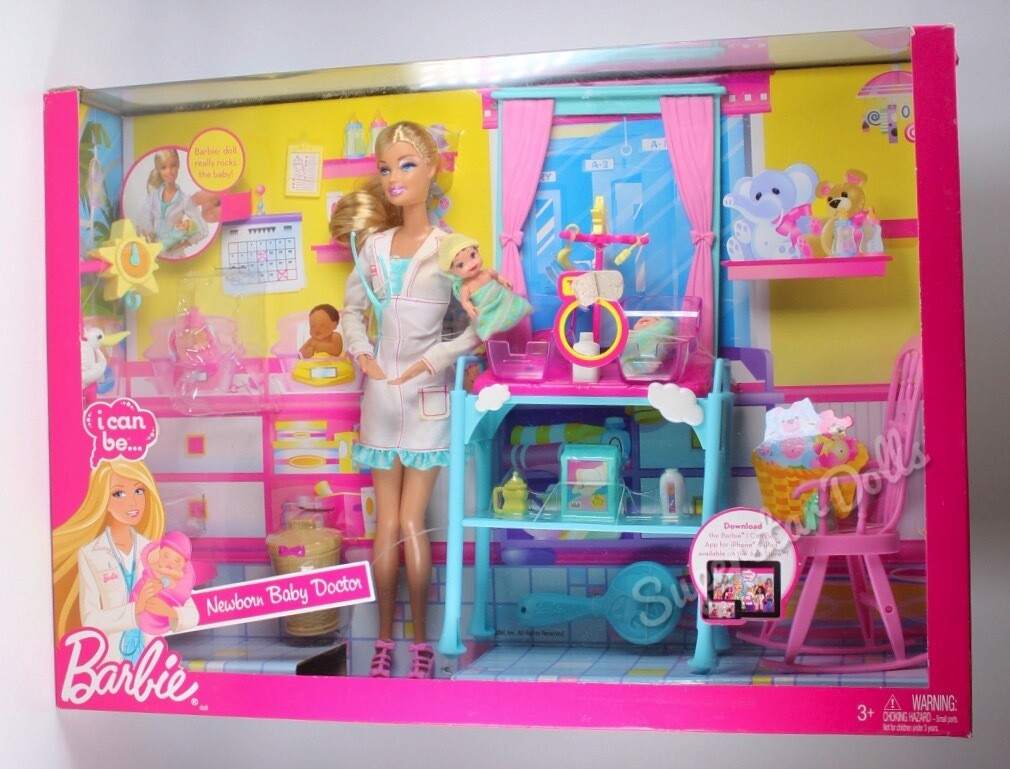 2011 I Can Be...Newborn Baby Doctor Barbie Set