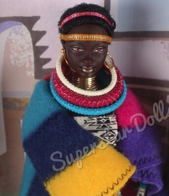 2002 Princess of South Africa Barbie Doll from the Dolls of the World Collection