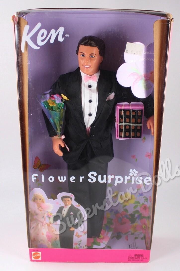 2002 Flower Surprise Ken Barbie Doll