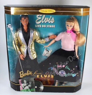 1996 Collector Edition: Barbie Doll Loves Elvis Gift Set