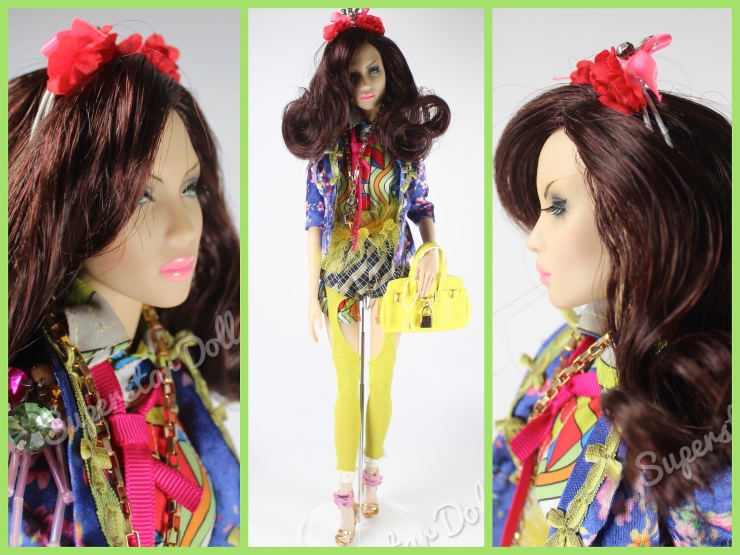 "Superdoll London: The Sybarites Peonie Gen X Vinyl BJD Dressed 16"" Fashion Doll"