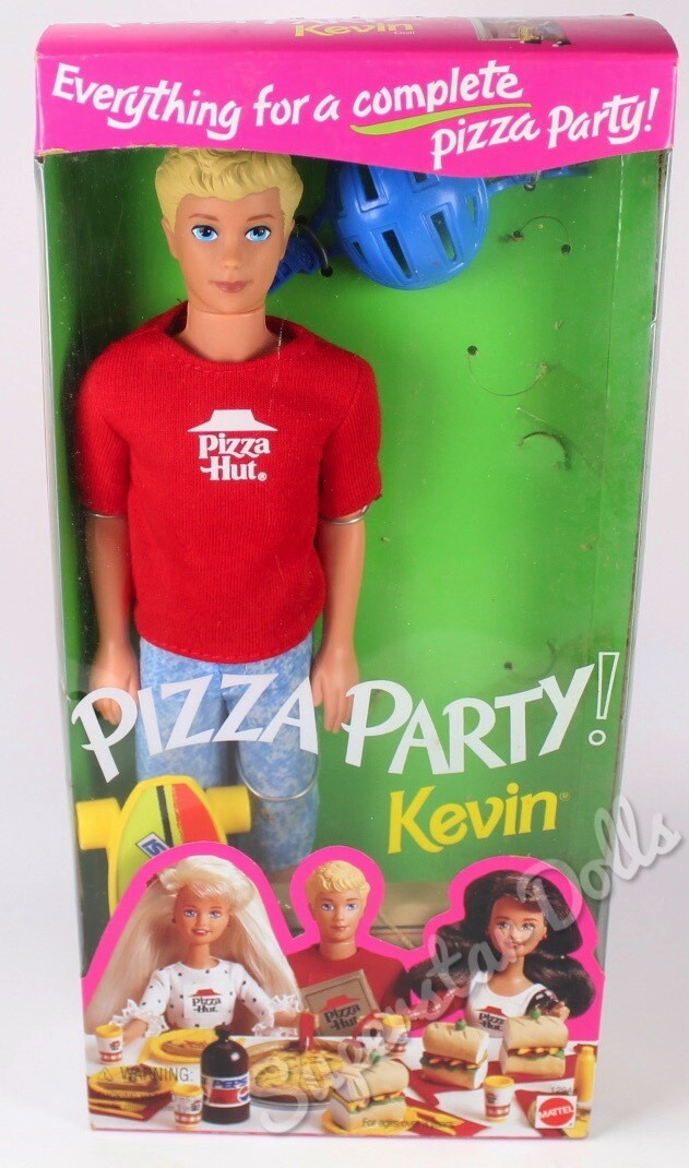 1994 Pizza Hut Pizza Party Kevin Barbie Doll
