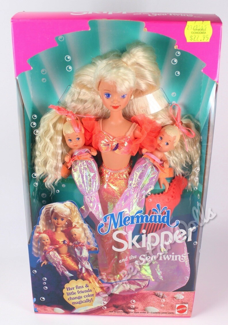 1993 Mermaid Skipper and the Sea Twins Barbie Doll
