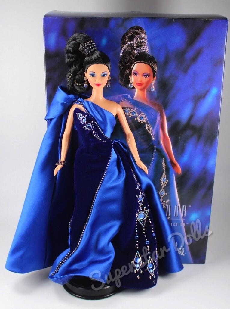 1996 Bob Mackie Saphire Splendor DE-BOXED Barbie Doll
