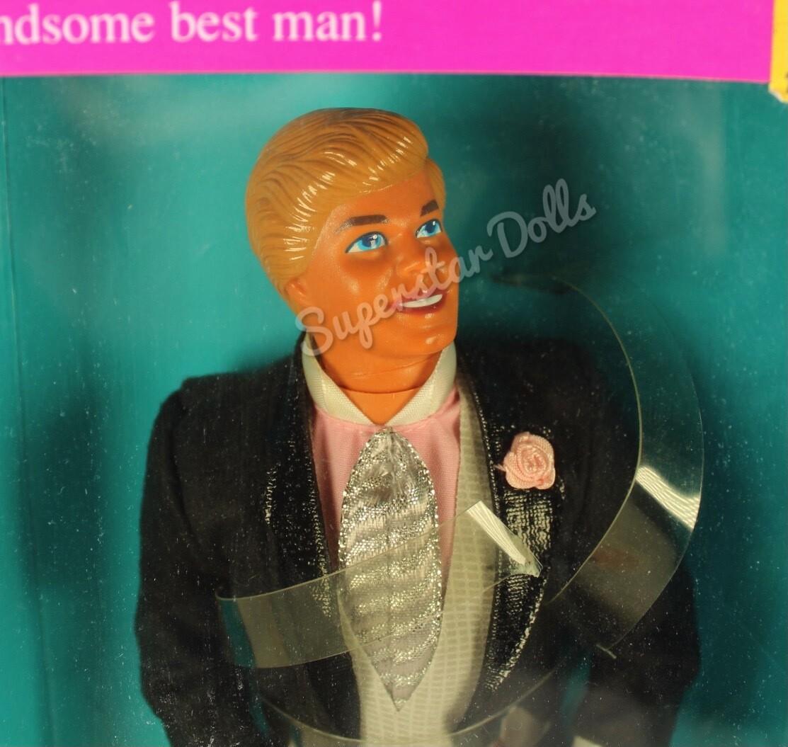 1990 Wedding Day Ken Barbie Doll