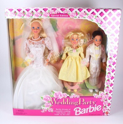 1994 Special Edition: Wedding Party Barbie, Stacie & Todd Doll Gift-set