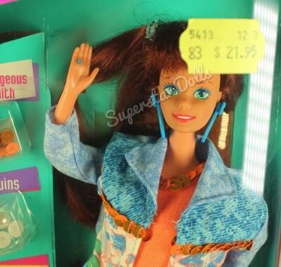 1993 Paint 'n Dazzle Redhead Barbie Doll