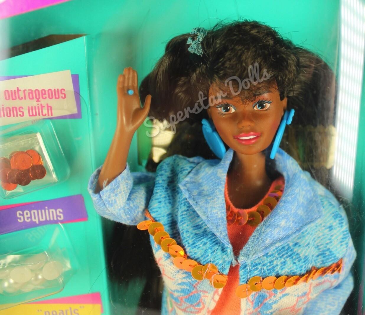 1993 Paint 'n Dazzle African American (AA) Barbie Doll
